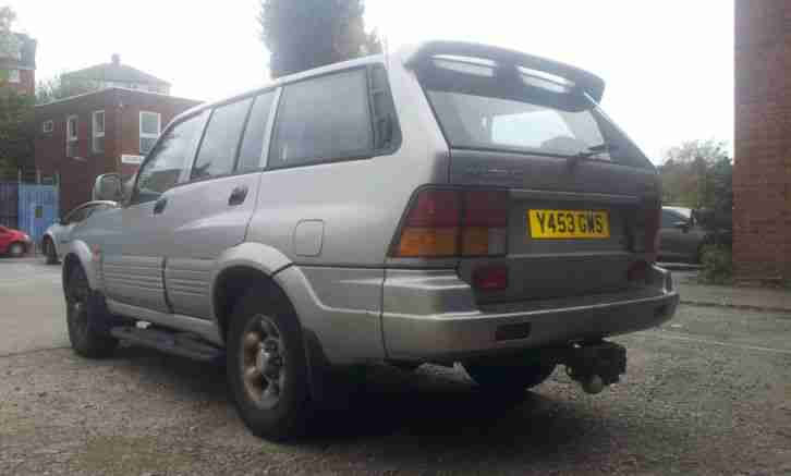 *01 SSANGYONG MUSSO 2.9TD GSE SILVER MOT 7 SEATS 4X4 97K MERCEDES DIESEL ENGINE*