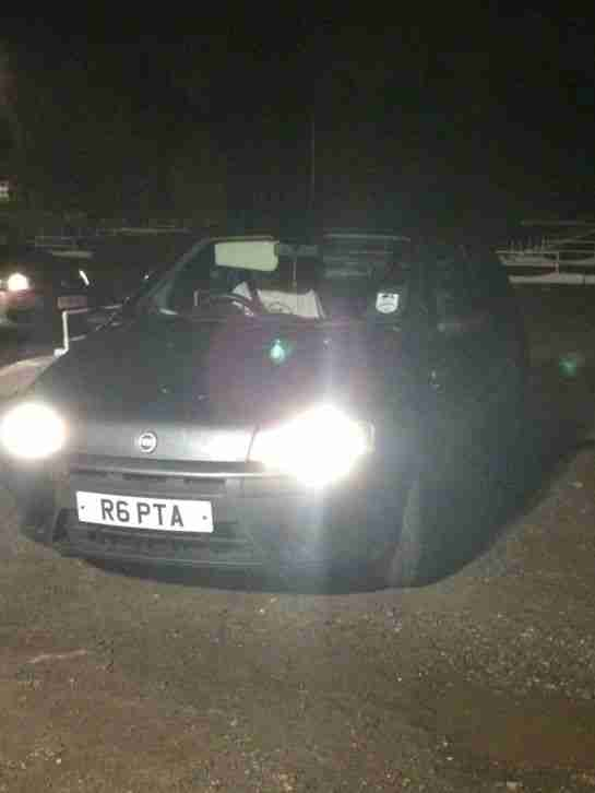 02 FIAT PUNTO SPARES OR REPAIR NEEDS ATTENTION BUT PRIVATE PLATE WORTH £LOADS