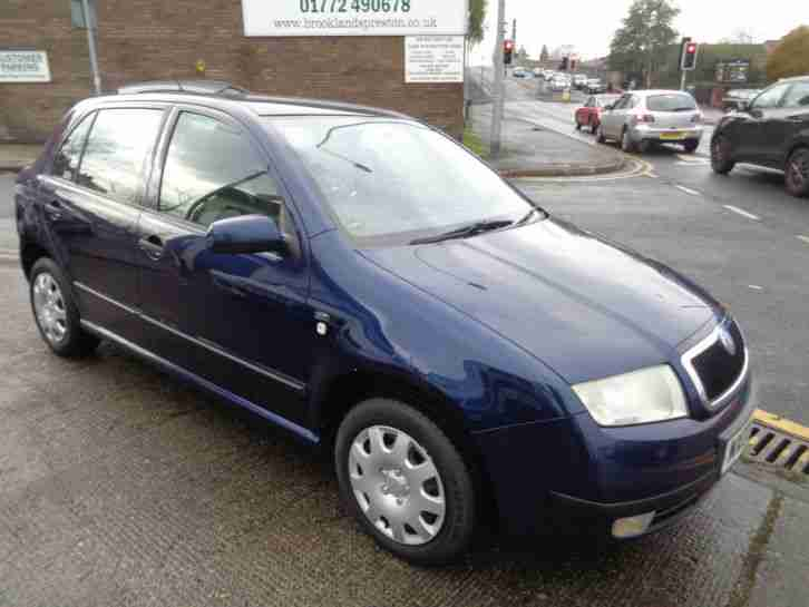 03 SKODA FABIA 1.4 COMFORT 5DR IN MET BLUE WITH FULL SERVICE HISTORY