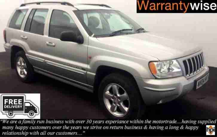 04 04 Jeep Grand Cherokee 2.7 CRD auto Overland (Free Delivery)