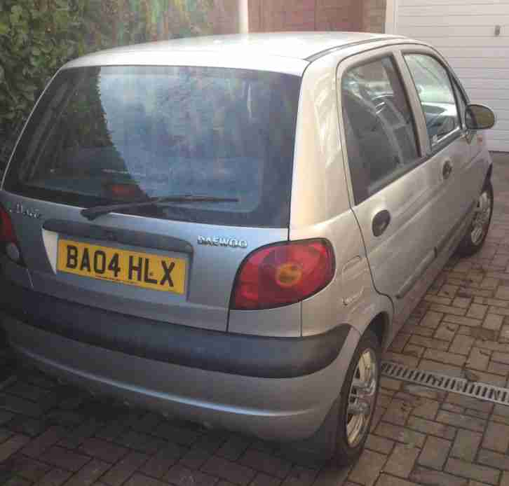 04 DAEWOO MATIZ Extra Cool Silver 1.0L only 37000 miles with 12 months MOT