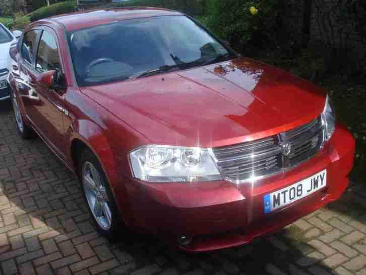 05 2008 dodge usa avenger sxt inferno red 2 0 petrol manual car for sale. Black Bedroom Furniture Sets. Home Design Ideas