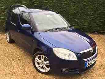 07 Skoda roomster 3 1.9 tdi Large Panoramic Roof 1 Lady Owner F.S.H