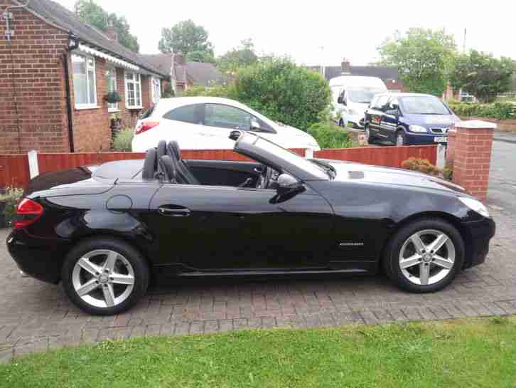 09 mercedes slk 200 kompressor auto black 77k convertible 9mths mot. Black Bedroom Furniture Sets. Home Design Ideas