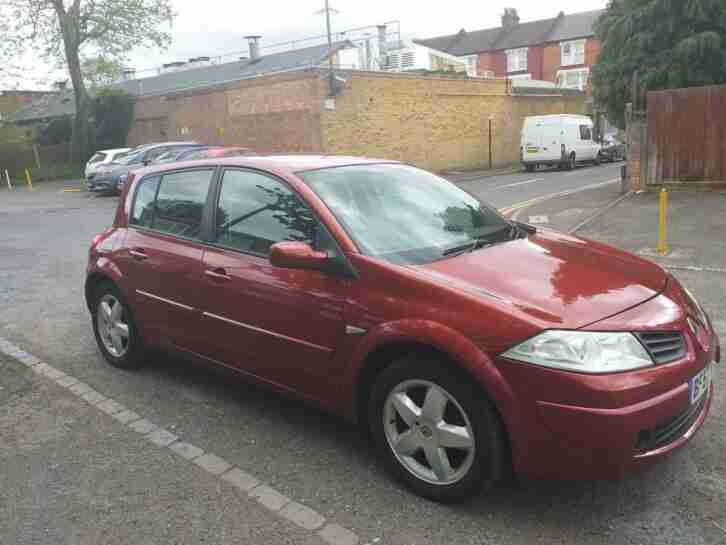 Renault MEGANE. Renault car from United Kingdom