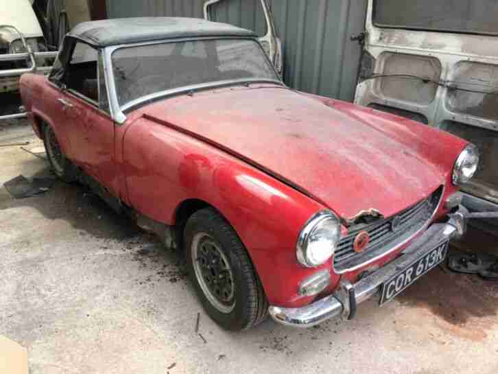1971 MG midget saloon with transferable