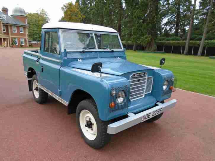 1978 S Reg Reg Land Rover 88 4 Cyl Blue Diesel Truck Cab Series 3