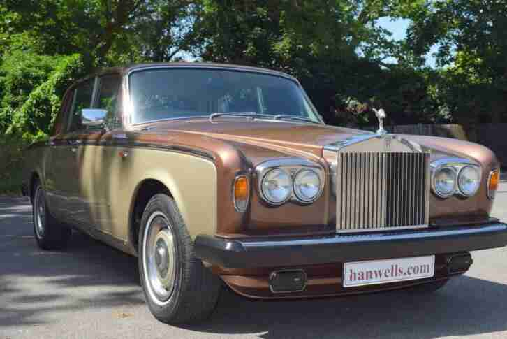 1978 S Rolls Royce Silver Shadow Series II in Walnut over Silver Sand