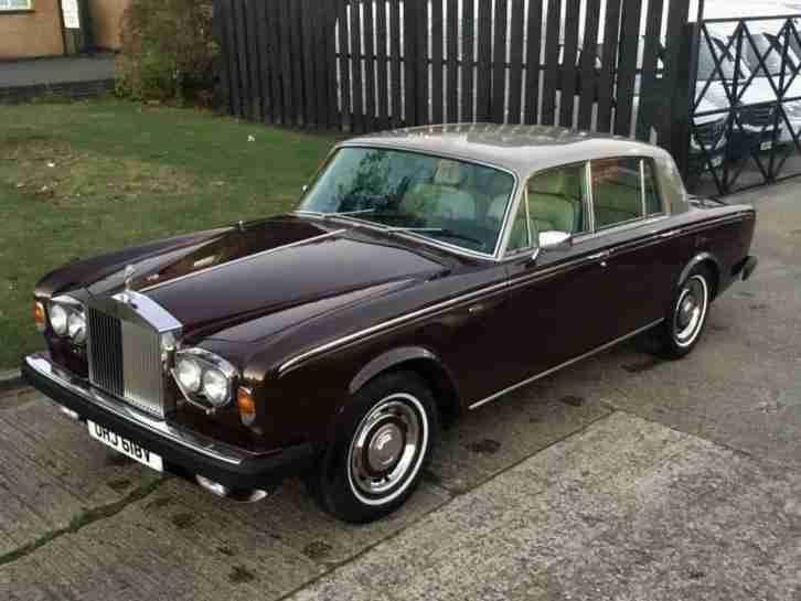 1979 ROLLS ROYCE SILVER SHADOW 6.8 4D AUTO SHADOW 11. GREAT INVESTMENT.