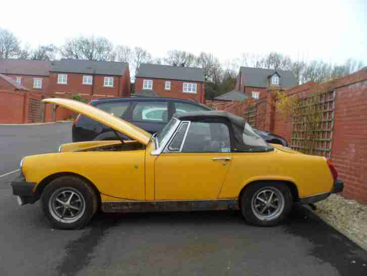 1980 MG MIDGET 1500 INCA YELLOW IN NEED OF RESTORATION