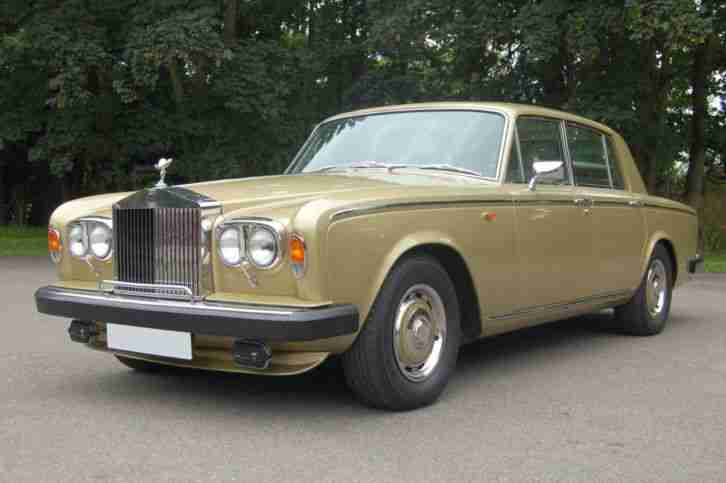 1980 V Rolls Royce Silver Shadow Series II in Willow Gold