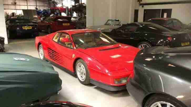Ferrari TESTAROSSA. Ferrari car from United Kingdom