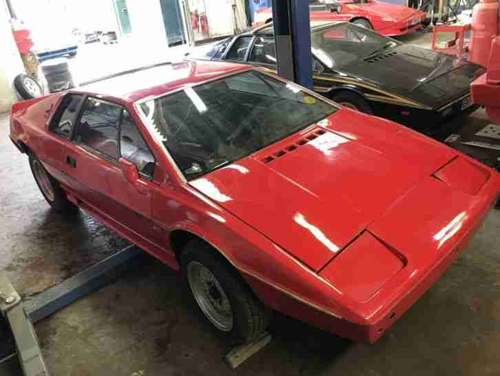 1985 ESPRIT TURBO UNFINISHED PROJECT