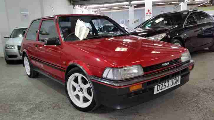 toyota 1986 corolla gt red immaculate rare classic gti car for sale. Black Bedroom Furniture Sets. Home Design Ideas