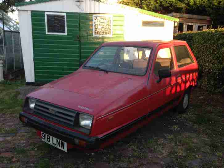 1987 RELIANT RIALTO GLS SALOON RED ONLY 21,000 MILES NOT ROBIN 12 MONTHS MOT