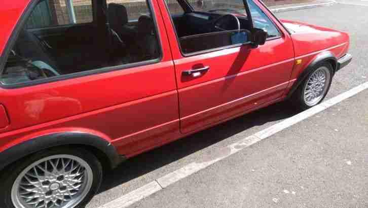 1987 type 19 red 8v gti mk2 golf car for sale. Black Bedroom Furniture Sets. Home Design Ideas