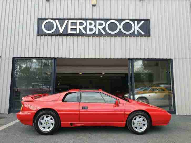 1988 LOTUS ESPRIT TURBO 1 FORMER KEEPER 22K MILES FROM NEW CALYPSO RED