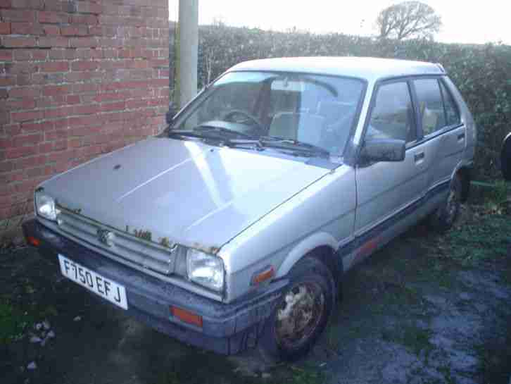 1988 SUBARU JUSTY GL 1.2 4WD MK1 SILVER SPARES OR REPAIRS RESTORATION