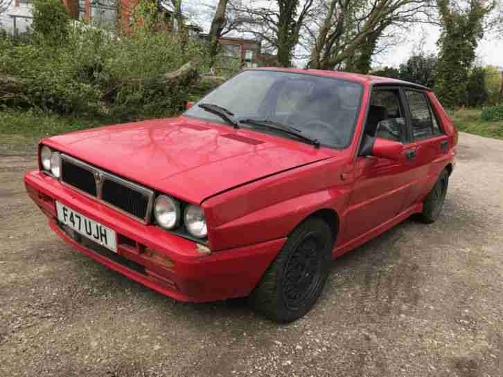 1989 LANCIA DELTA INTEGRALE 2.0 TURBO 8V RED SPARES OR REPAIRS