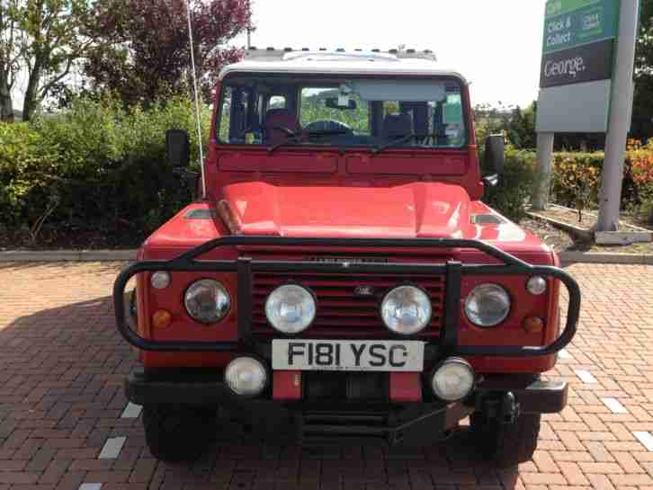 1989 LAND ROVER 110 4C COUNTY D TURBO RED