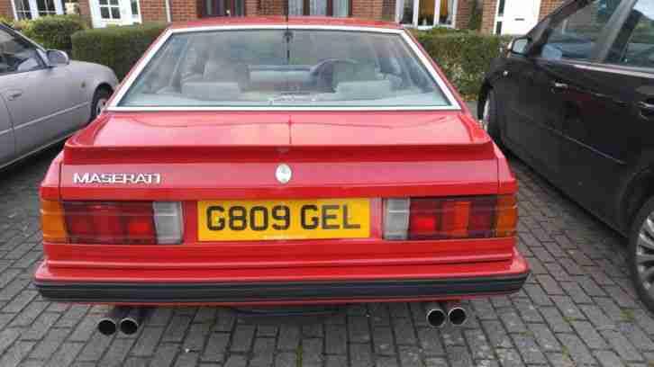 Maserati 1989 222 E Biturbo RED new cam belt and warer pump non cat