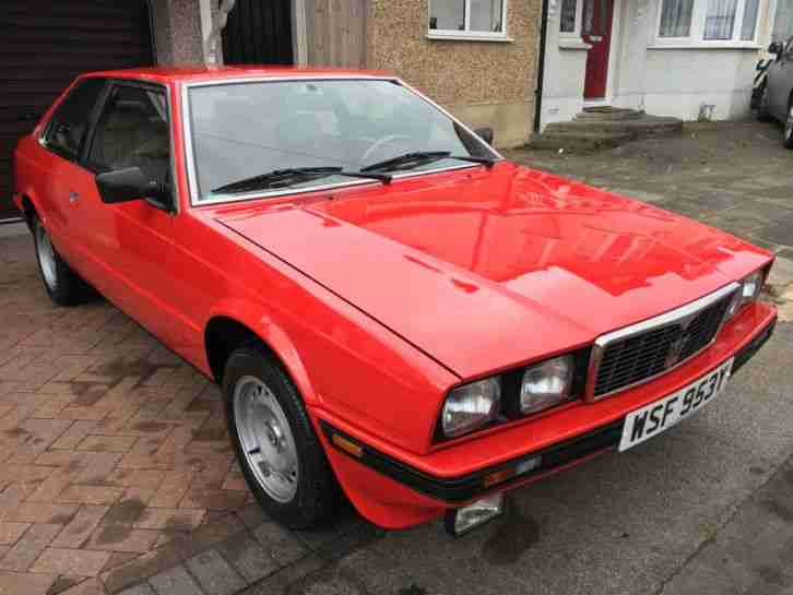 1989 MASERATI BITURBO 73000 RIGHT HAND DRIVE RED EXCELLENT CONDITION FOR YEAR
