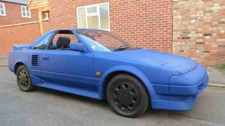 1989 Toyota MR2 Mk1 Rare T Bar Plastic Dip Liquid Wrapped 4 New Tyres VGC SH