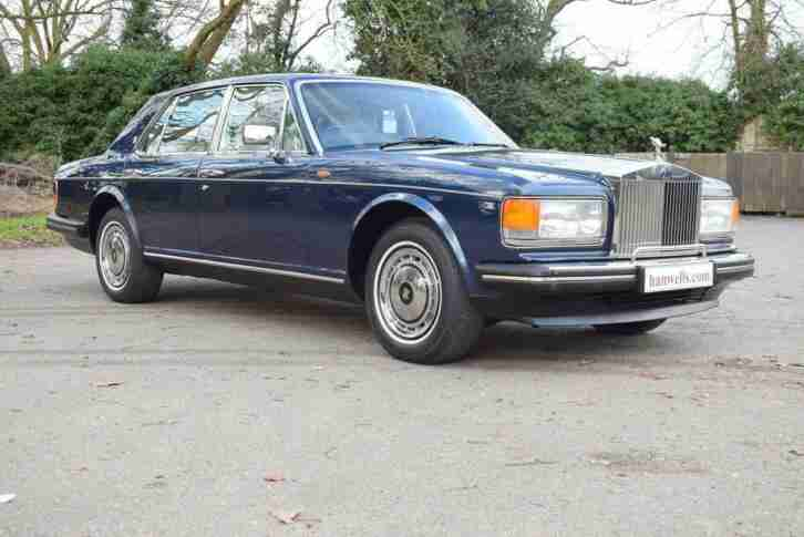 1990 H Rolls Royce Silver Spirit MK II Active Ride in Royal Blue