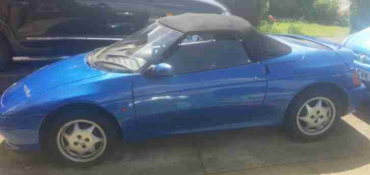 1990 LOTUS ELAN SE TURBO BLUE - PROJECT - Roll Bumps - Stainless steel exhaust