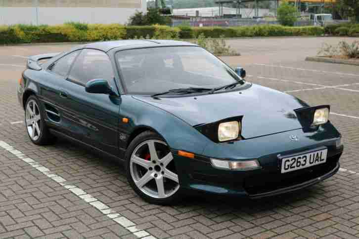 1990 TOYOTA MR2 GT TURBO T BAR GREEN