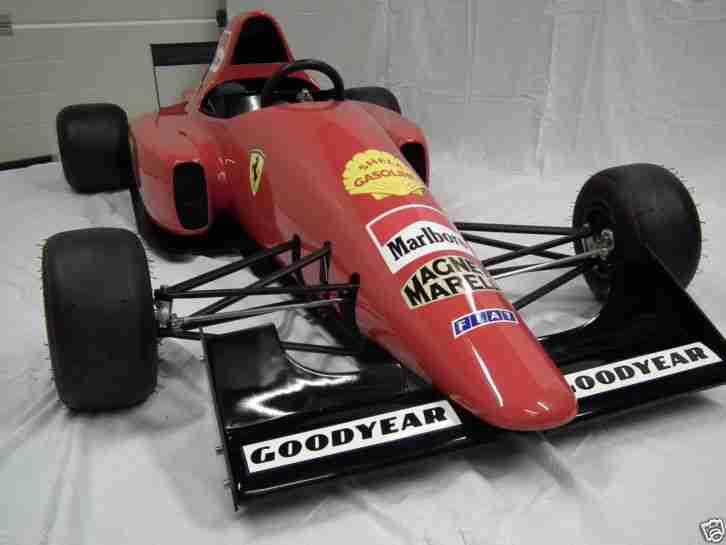 Ferrari 1990s F1 Scaled Down Replica Pedal Car Tot Rod Go
