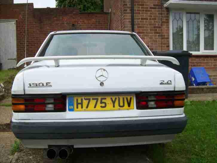 1991 mercedes 190e auto white car for sale for 190e rear window spoiler