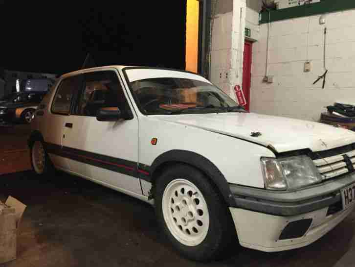 Peugeot 1991 205 GTI WHITE TRACK RACE RALLY px rwd drift car. car ...