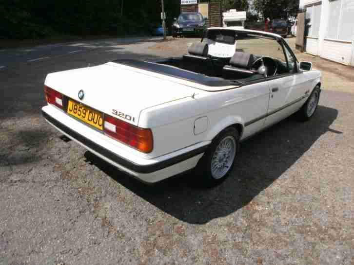 1992 BMW 320I CONVERTIBLE AUTO WHITE