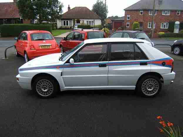 1992 J Lancia Delta 2.0 16v HF Integrale 4wd Turbo, White, Martini Stripes, 32k