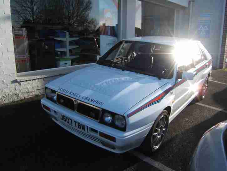 1992 Lancia Delta Integrale 16v Turbo 4wd 2.0 5dr, ONLY 53k MILES! White VGC