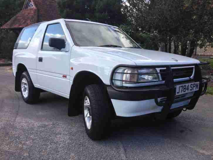 vauxhall 1992 frontera sport white car for sale. Black Bedroom Furniture Sets. Home Design Ideas