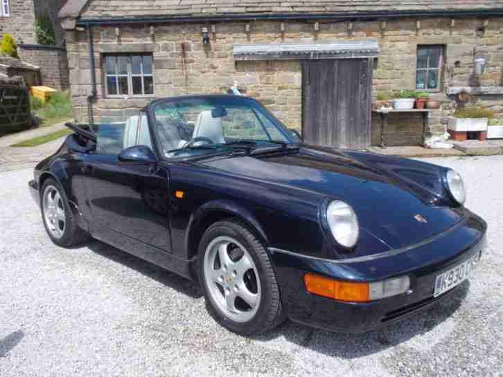 Porsche 1993 911 Carrera 2 Cabrio Blue Car For Sale