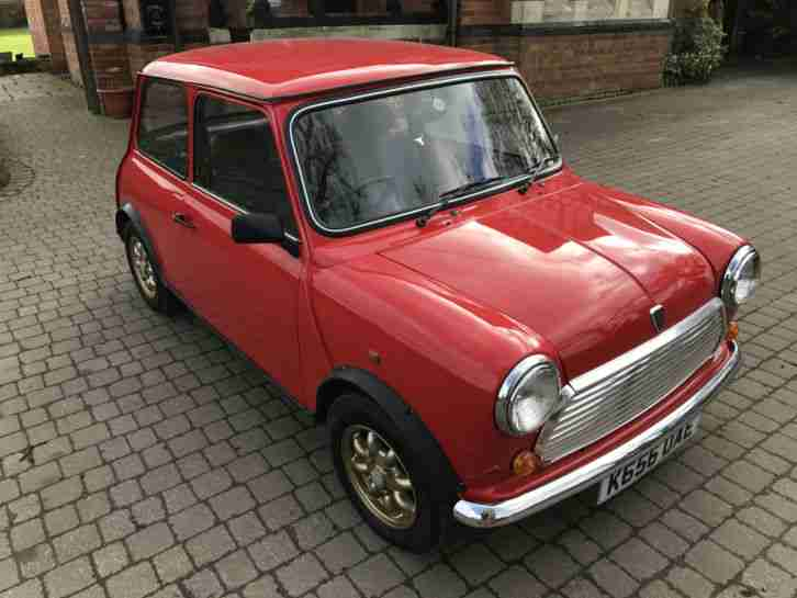 1993 ROVER MINI SPRITE RED 1275cc CLASSIC 21778 MILES ALL OLD MOT'S