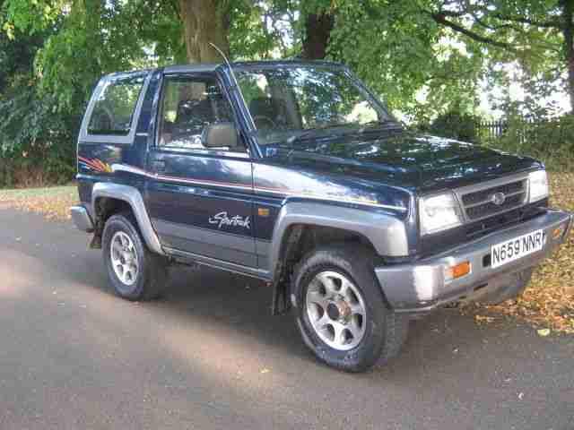 daihatsu 1995 sportrak elx i blue  car for sale