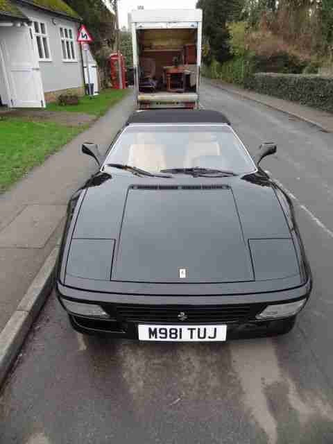 1995 FERRARI 348 SPIDER LHD NERO BLACK WITH TAN INTERIOR SUPERB