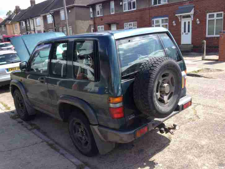 1995 ISUZU TROOPER 3.1 TD TURBO DIESEL GREEN - SWB FACELIFT MODEL EXPORT SPARES