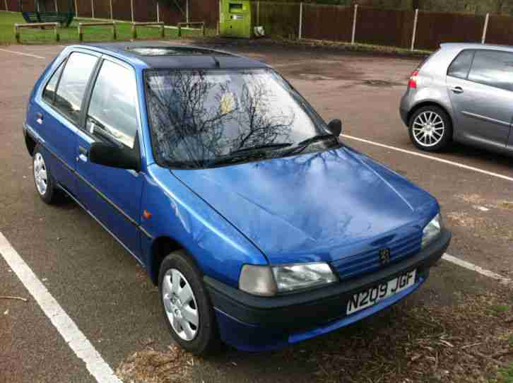 Peugeot 1995 106 AZTEC BLUE. car for sale