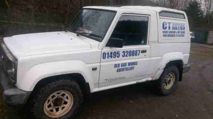 1996 DAIHATSU FOURTRAK FIELDMAN TDL WHITE