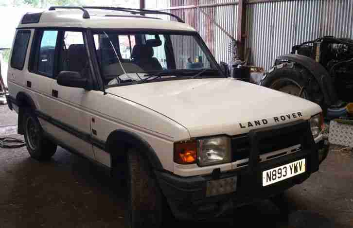 1996 Land Rover Discovery Es Tdi White Car For Sale