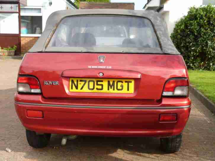1996 ROVER 114 CABRIOLET RED