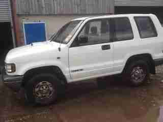 1997 ISUZU TROOPER SWB 3.1L TURBO DIESEL WHITE