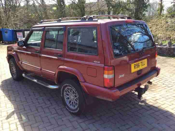 jeep 1997 cherokee limited red car for sale. Black Bedroom Furniture Sets. Home Design Ideas