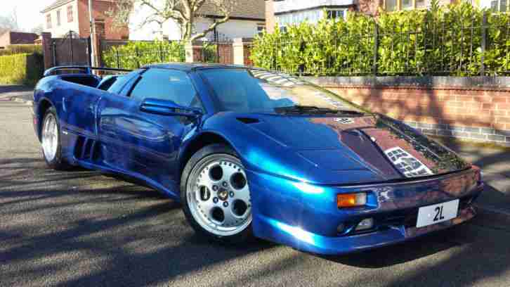 Lamborghini 1997 Diablo 5 7 Vt Roadster Blue Lhd Convertible Car