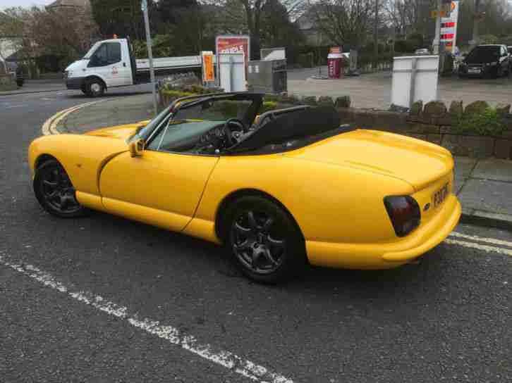 1997 P TVR CHIMAERA 4.0 V8.BRIGHT YELLOW.ONLY 63000.RAKES OF EXTRAS.IMMACULATE .